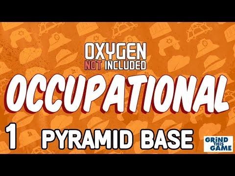 PYRAMID BASE #1 - Oxygen Not Included - Occupational Upgrade (JOBS, HATS & CONVEYOR RAILS)