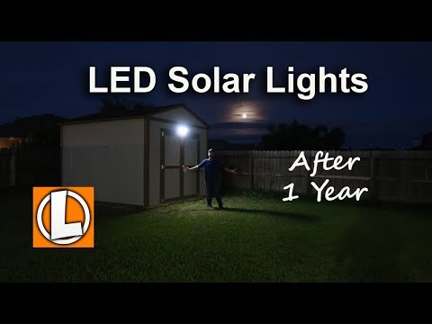 Solar Outdoor LED Lights After 1 Year - Lemontec, Luposwiten, Litom Motion Activated Lights