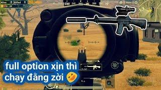 PUBG Mobile - Bắn Auto Burst M16A4 Với Scope 4x | Gặp 2 Thanh Niên Knock Liên Tục Cạnh Hòm Thính :D