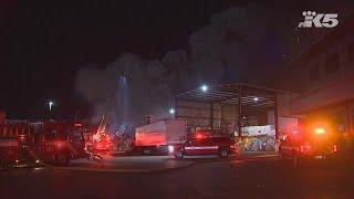 Fire at Tacoma scrap yard causing air quality concerns