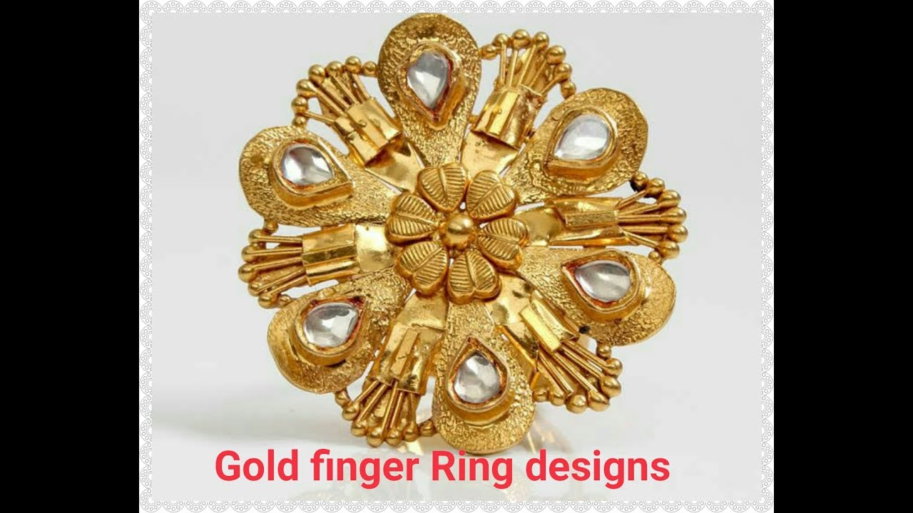 Beautiful Gold Finger Rings designs - YouTube