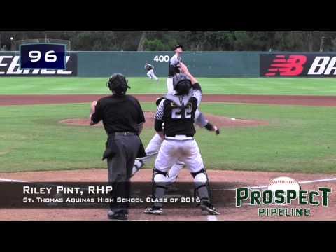 Riley Pint Prospect Video, RHP, St. Thomas Aquinas High School Class of 2016