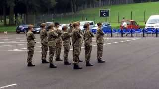 Staffordshire and West Midlands (NS) ACF - B Company Drill Team Display - Warcop 2014