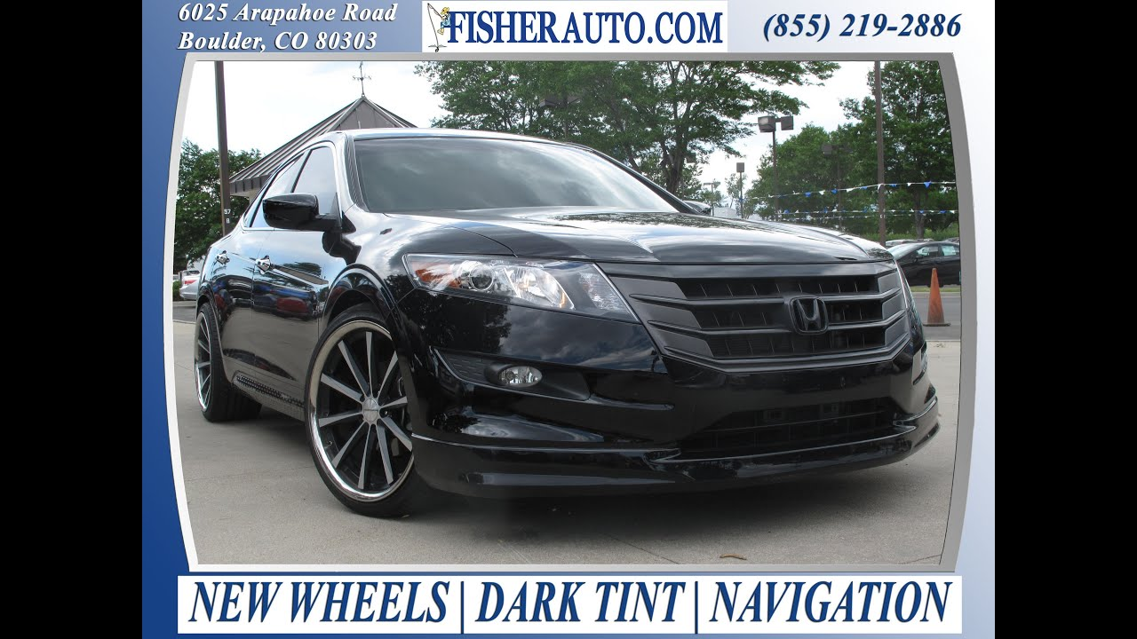 2011 Honda Crosstour Exl Black 24 900 Boulder Colorado Fisher Auto Stock P6520 Youtube