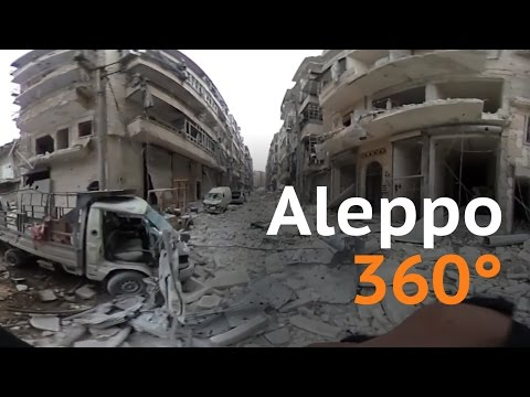 Destruction in Aleppo - 360° video