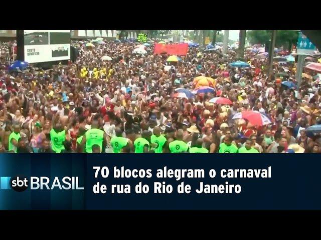 70 blocos alegram o carnaval de rua do Rio de Janeiro | SBT Brasil (02/03/19)