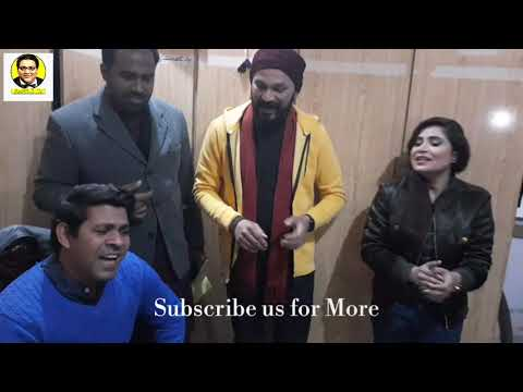 Team Khabarzar Singing | Behind The Camera | Babbu Rana Singing With Saima Mumtaz |  Haseeb Sajjad