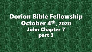 October 4th, 2020-Pastor Don Shaver (Dorion Bible Fellowship)