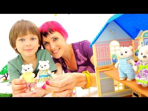 Игры бродилки  с Машей и Марком! БЕЛЫЕ МИШКИ Village Story! Весёлая Рыбалка. Видео с игрушками
