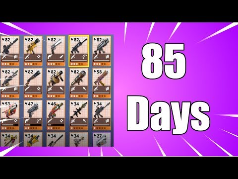 85 Days on Fortnite Save The World | Legendary Collection