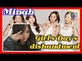 Minah talk about that Girl's Day's disbandment
