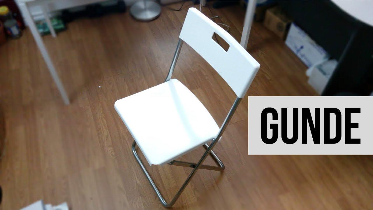 Ikea S Gunde Folding Chair Demonstration Youtube