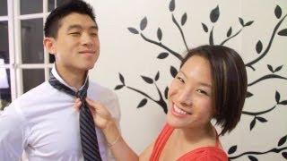 How to Tie a Tie On A Boyfriend - Gina♥Heart