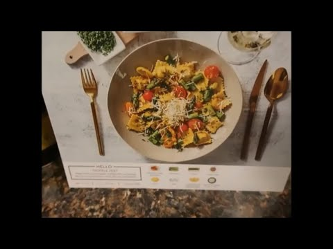 SUBSCRIPTION DINNER BOX HELLO FRESH | LOBSTER RAVIOLI | COOK AND TASTE WITH ME