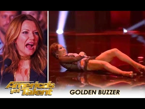 Quin & Misha: 71-Year-Old With CRAZY Body Moves Get GOLDEN BUZZER! | America's Got Talent 2018