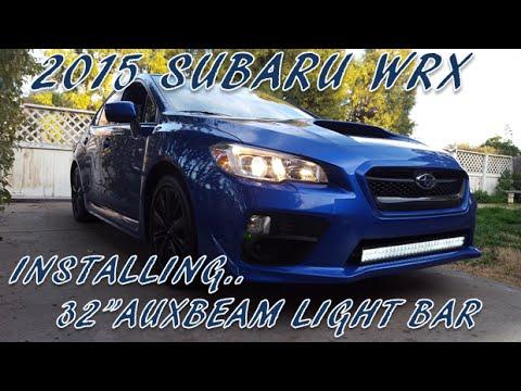How to install a 32 auxbeam light bar on a subaru wrx youtube how to install a 32 auxbeam light bar on a subaru wrx aloadofball Images