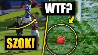 Kibic UDERZYŁ piłkarza! Piłka zatrzymała się przed BRAMKĄ!