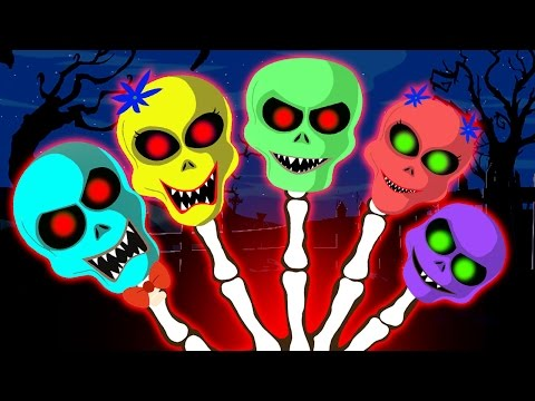 Funny Colorful Skeletons Dancing on Finger Family Song by HooplaKidz Toons