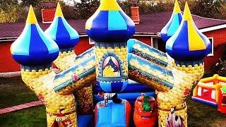 ✿ ВЕСЕЛАЯ ПОСУДА Большой Замок Принцесса Сюрпризы Disney Princess Play eggs surprise Toys Kids fun(ВЕСЕЛАЯ ПОСУДА Большой Замок Принцесса Сюрприз Disney Princess Play eggs surprise Toys Kids fun https://goo.gl/lgGyNz На Батуте