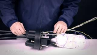 Video tutorial que muestra la preparación del cable e instalación d...