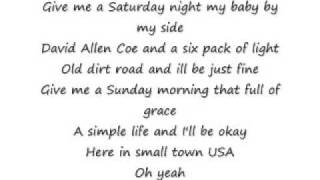 Justin Moore-  Small Town USA w/ lyrics