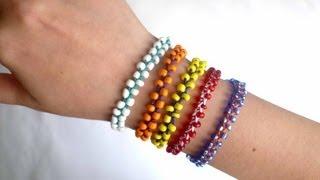 DIY Beaded Stackable Bracelets \ Плетеный браслет из бисера