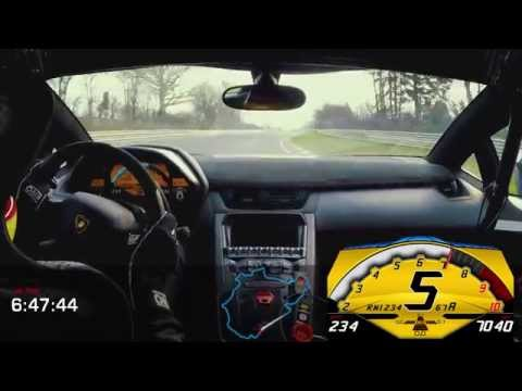 Aventador LP 750-4 SV Onboard ‪Nürburgring‬ lap in under 7m with P Zero Corsa