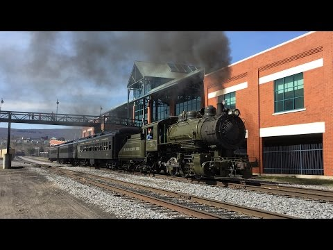 Steamtown HD 60 FPS: Baldwin Locomotive Works 0-6-0 #26 Working the Scranton Limited (4/17/16)
