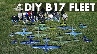 Giant Fleet of DIY B-17 Bombers!