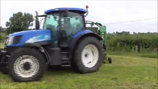 Silage 2k17 raking  baling wrapping carting bales of silage danny buston agri