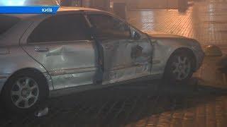 На Європейській площі зіткнулися дві іномарки. Позашляховик Рендж Ровер та Мерседес
