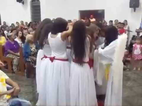 Paróquia Nossa Senhora do Caminho - Encenação historia de Santa Inês.