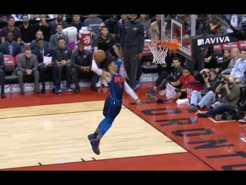 Russell Westbrook Notches Fifth-Straight Triple-Double in Thunder Win over Raptors