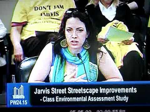 Jarvis Street Bike Lanes - TORONTO CYCLISTS UNION spokesperson, Yvonne Bambrick.