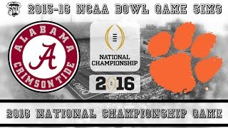 2016 NCAA National Championship Game Sim - Alabama vs Clemson (NCAA Football 14 - Xbox 360)