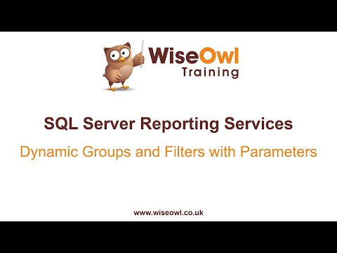 SSRS - Dynamic Groups And Filters With Parameters