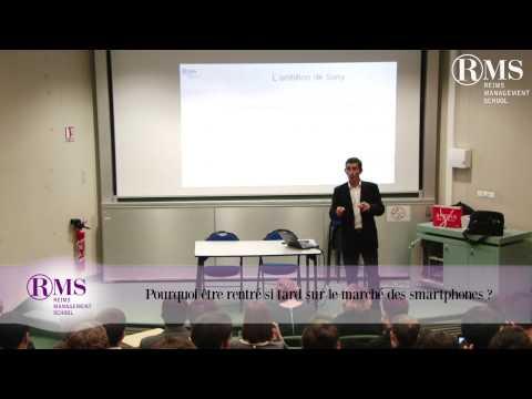 Conférence de David Mignot  Directeur Général Sony Mobile France - Belgique - Luxembourg