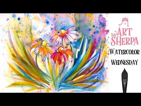 How To Paint With Watercolor Step By Flowers The Art Sherpa