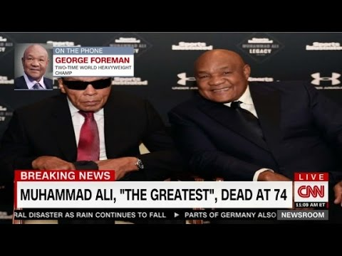 George Foreman reacts to death of Muhammad Ali
