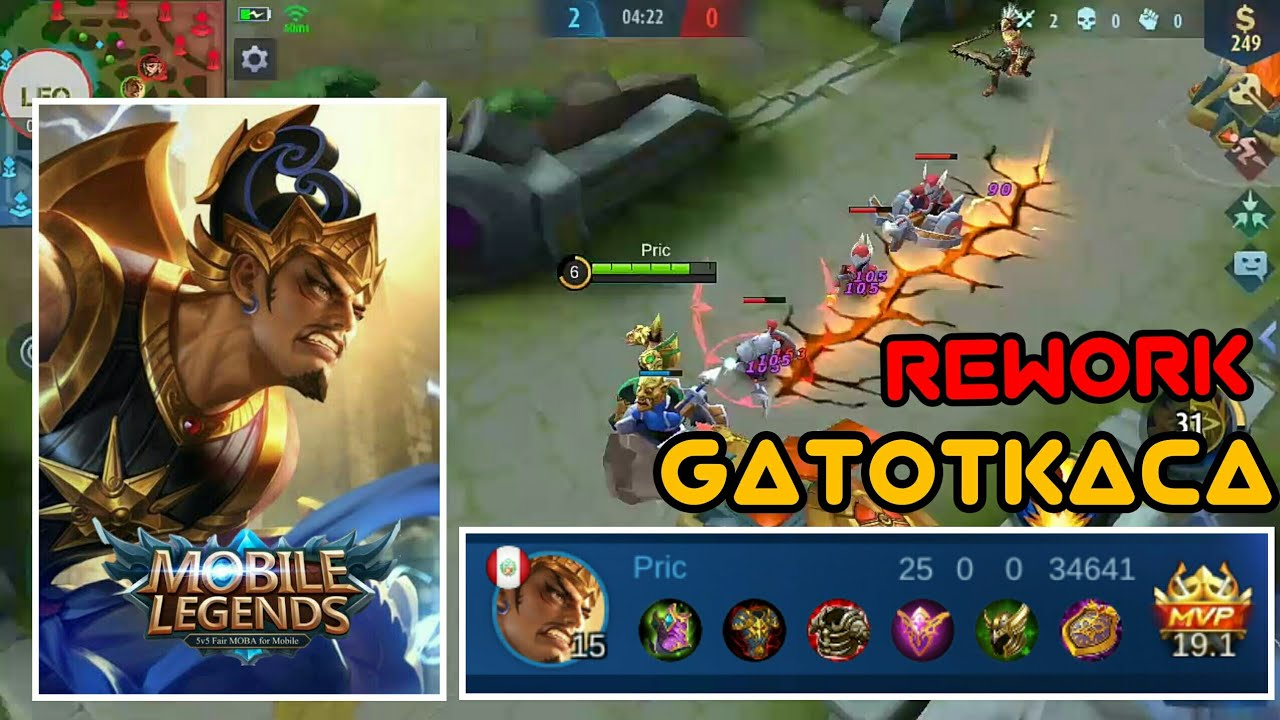 Rework Gatotkaca!! 😋 - La MEJOR BUILD de GATOTKACA - Mobile Legends - Leo