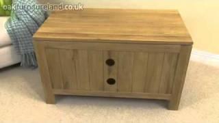 Dakar Solid Oak Tv / Dvd / Vcr Cabinet From Oak Furniture Land
