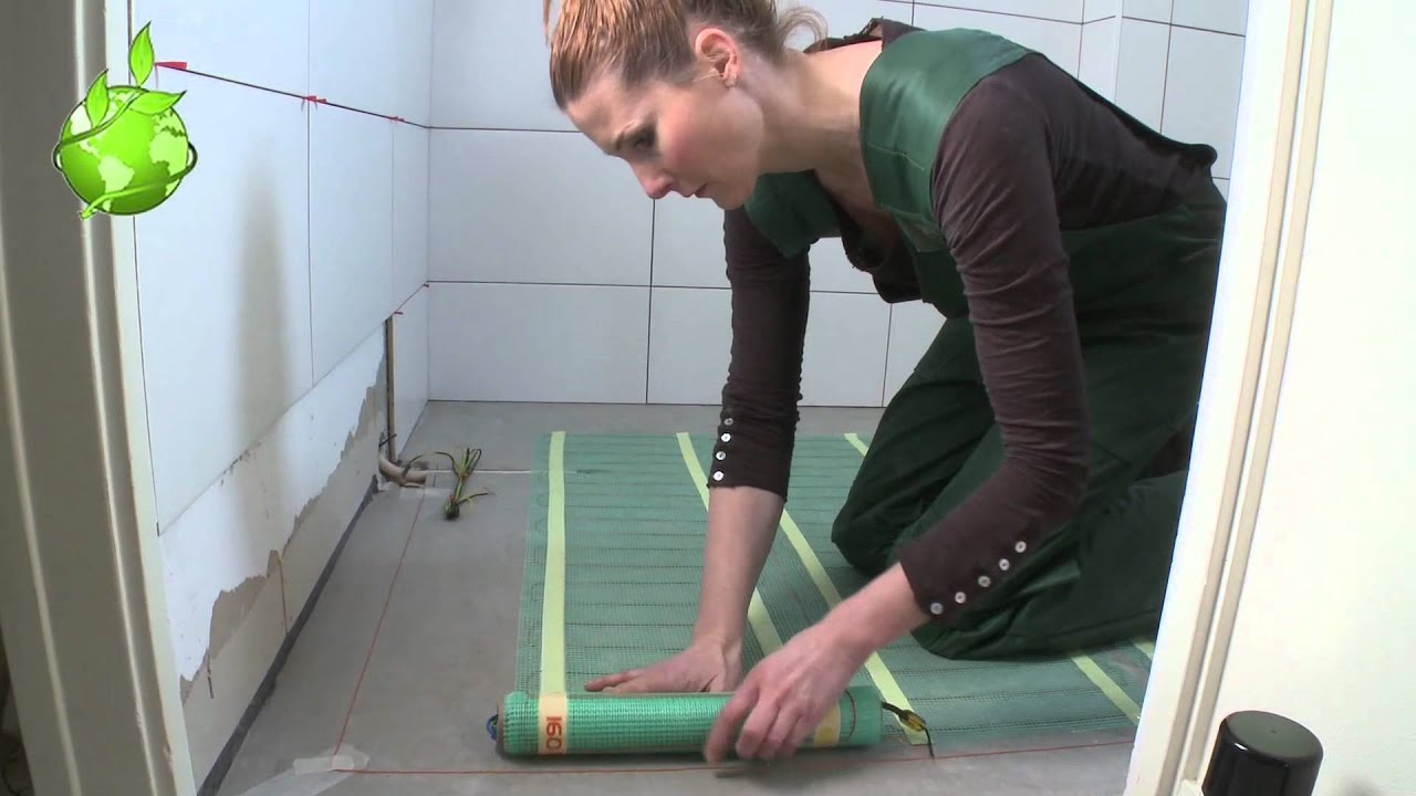 Quickheat-Floor Basic vloerverwarming badkamer - YouTube
