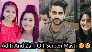 Aditi Rathore and Zain imam off Screen Masti Video😍😍 | Naamkaran |Adiza