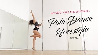 My first pole dance freestyle that I share /