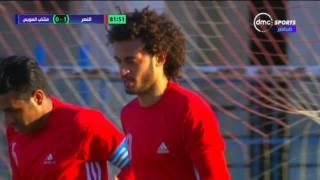 دوري dmc - مروان حمدي يسجل هدف الفوز لنادي النصر في شباك منتخب السويس
