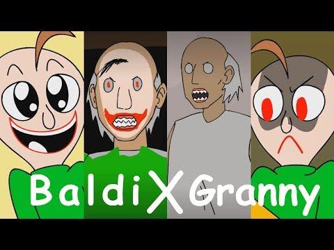 BALDIS BASICS X GRANNY HORROR ANIMATION COMPILATION #1