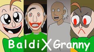 BALDI'S BASICS X GRANNY HORROR ANIMATION COMPILATION #1