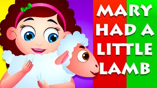 Mary Had A Little Lamb Nursery Rhyme With Lyrics | Cartoon Animation Songs For Children