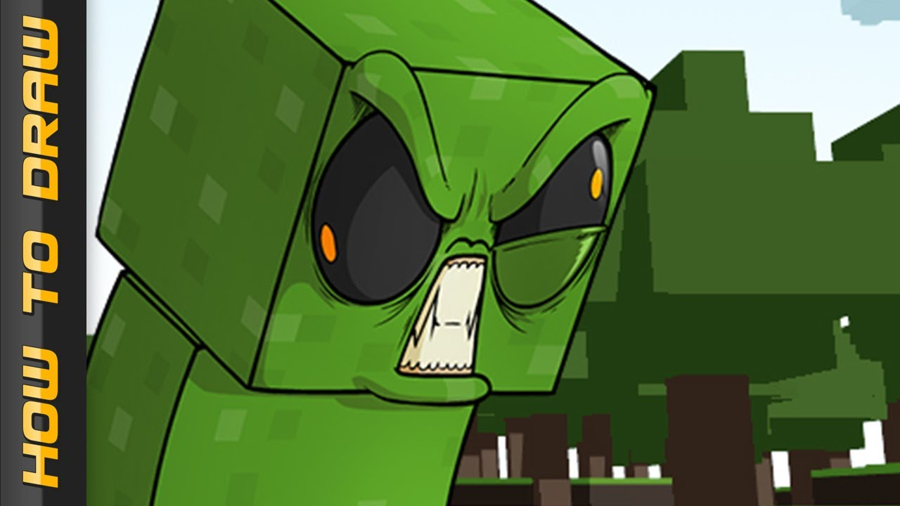 Cp Wallpaper Cute Creeper How To Draw Epic Minequest Youtube