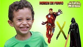 Joao Pedro - Batalha de brinquedo entre Darth Vader X Homem de Ferro (Iron man)